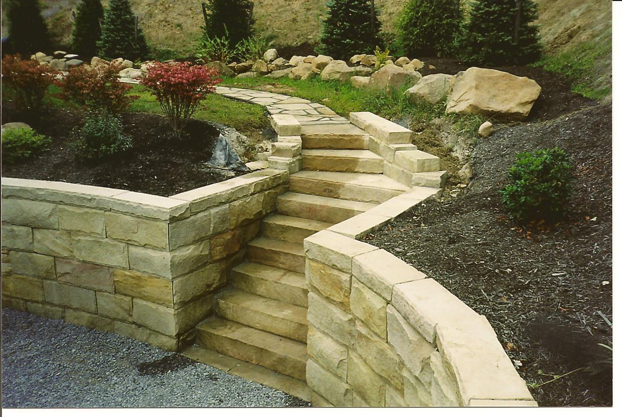 Landscaping Wall Steps : Walls and stairs by tinakoral on retaining outdoor